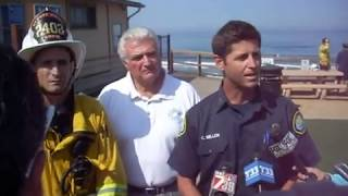 Fatal Shark Attack, San Diego, Initial Press Conference