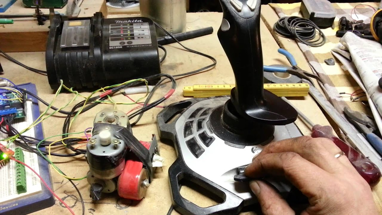 Arduino controlling motors with logitech joystick youtube