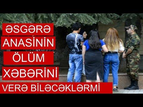 Esgere Anasinin Olum Xeberini Verdiler (Azerbaycani Agladan Video)