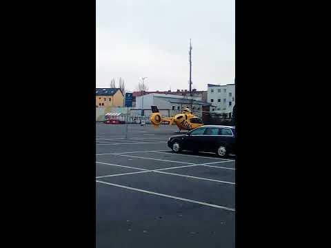 Hubschrauber Einsatz in Berlin Wittenau (Unfall Wittenau)