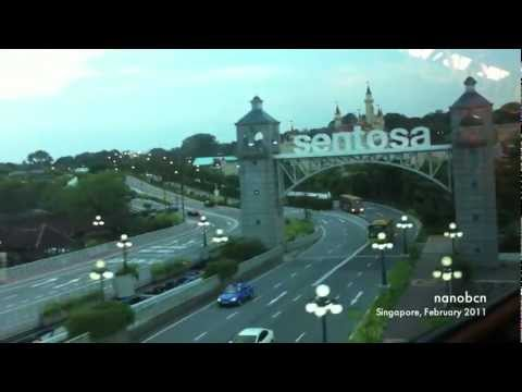 Sentosa Express Monorail, Singapore - From Sentosa to Waterfront Station (Universal Studios)