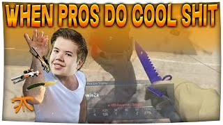 s1mple & JW SNEAKY PLAYS - When PROS DO COOL SHIT #9 (CS:GO)