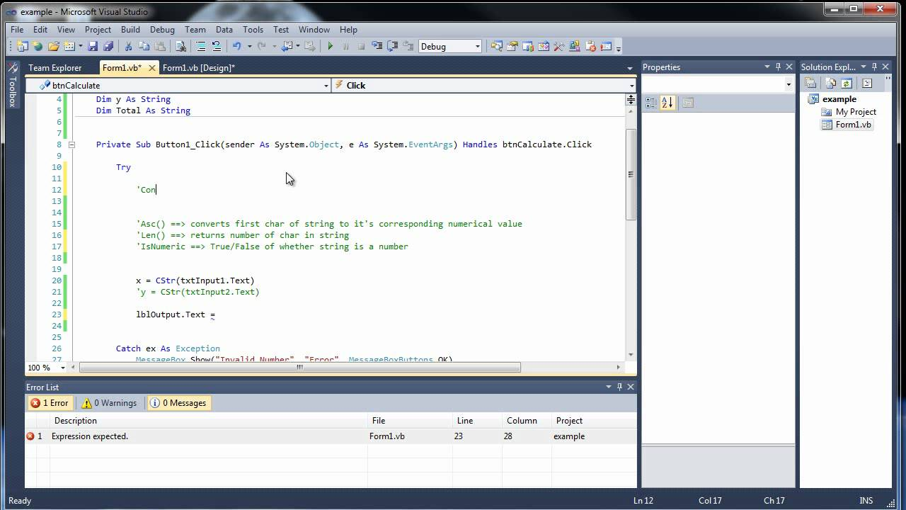 Visual Basic Tutorial 5 - Constants, Strings, and String Functions
