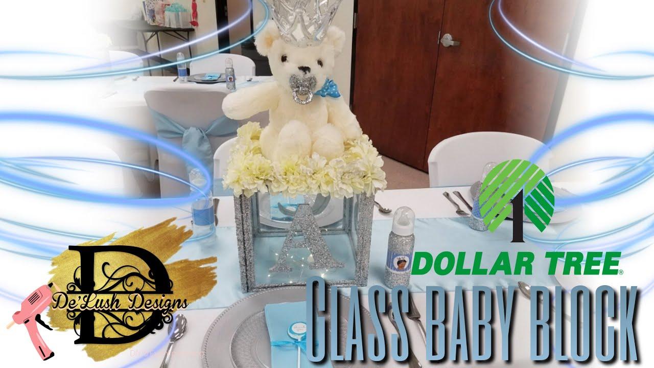 Dollar Tree Diy Glass Baby Blocks Youtube