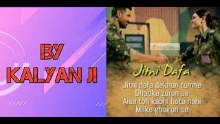 Jitne dafa Song by kalyan ji