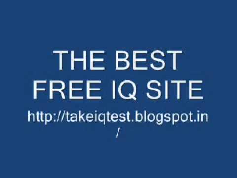 BEST FREE IQ TEST - YouTube