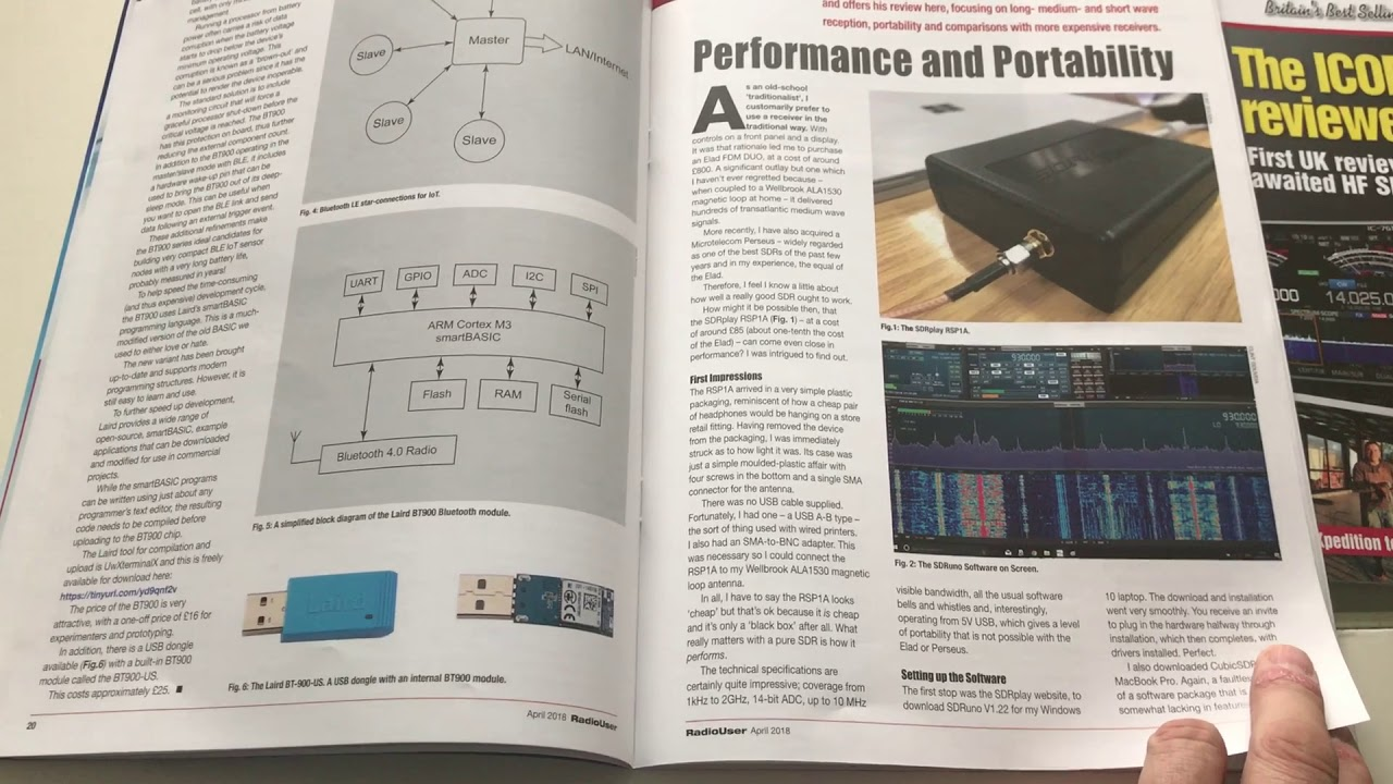 A review of the SDRPlay RSP1A in the April edition of Radio User Magazine