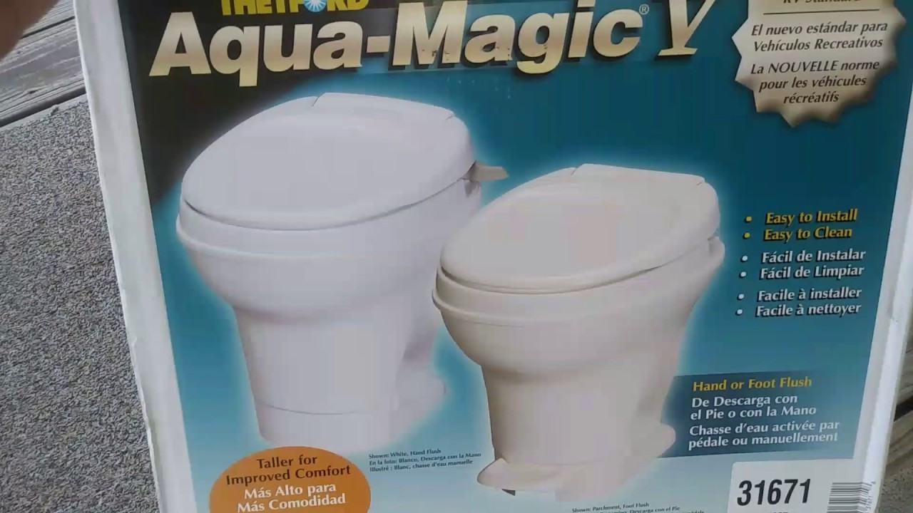 RV TOILET REPLACEMENT...part 2 of 2 Aqua Magic RV Toilet... - YouTube
