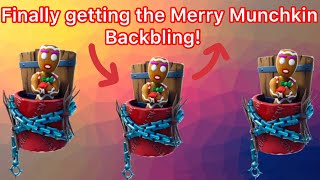 Finally getting the Merry Munchkin backling! / Fortnite
