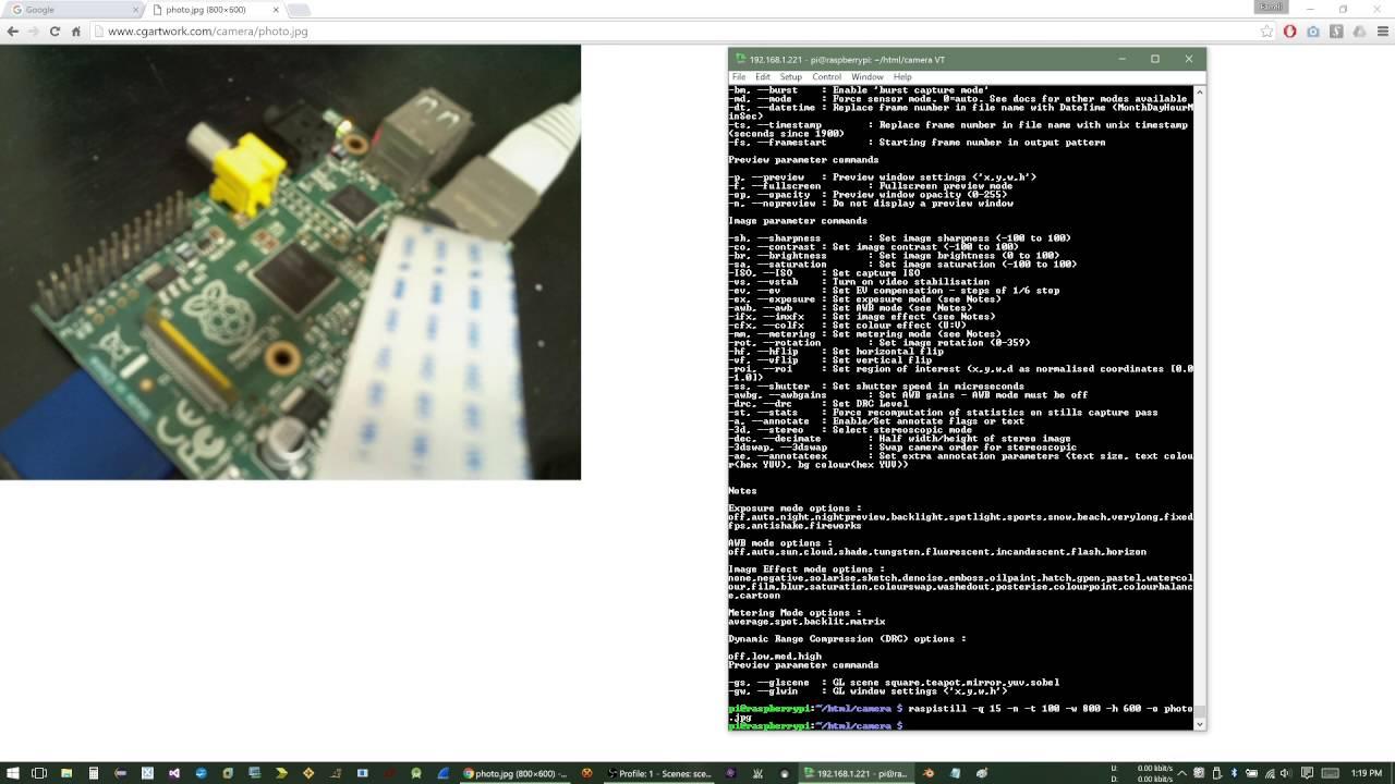 Setup A Webcam Server with the Raspberry Pi Camera Module by