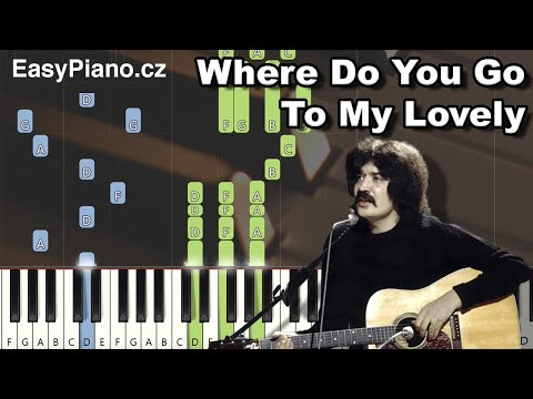 Peter Sarstedt: Where Do You Go To My Lovely (MIDI + synthesia tutorial + piano sheets) thumbnail
