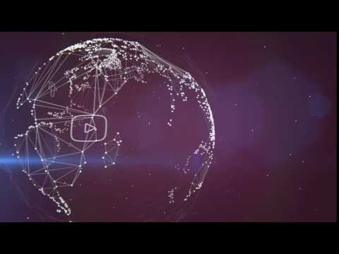 Wireframe Globe Facebook VZ Social Animation Clip With Audio