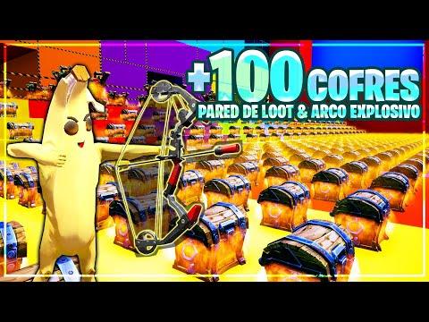 PARED DEL LOOT *ARCO EXPLOSIVO* +100 COFRES (FORTNITE MINIJUEGOS)