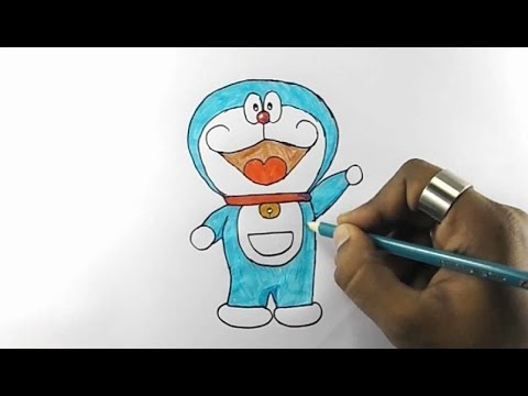 how to draw doraemon kids drawing practice - Images Of Kids Drawing
