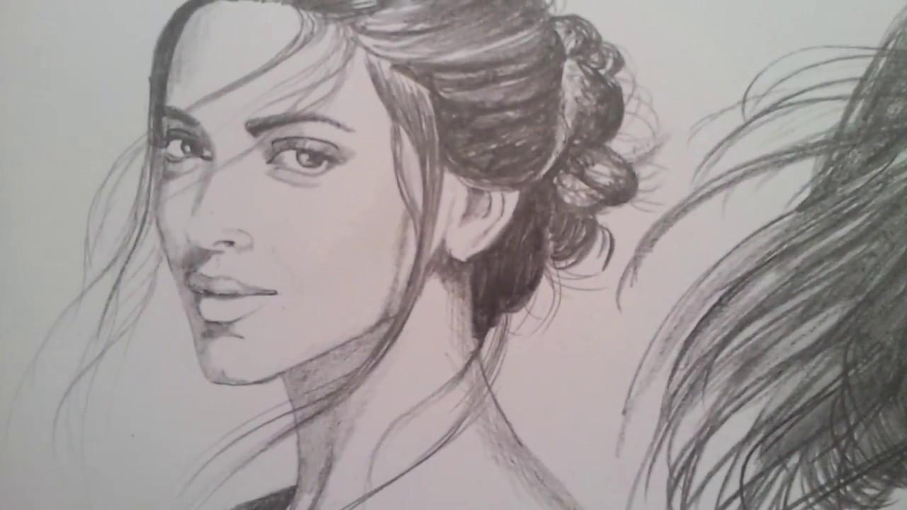 Deepika padukone priyanka chopra katrina kaif sketch by me