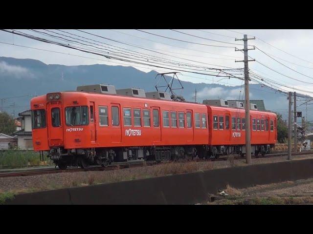 伊予鉄道の郊外電車~オレンジカラー車が登場 2015年11月 - YouTube