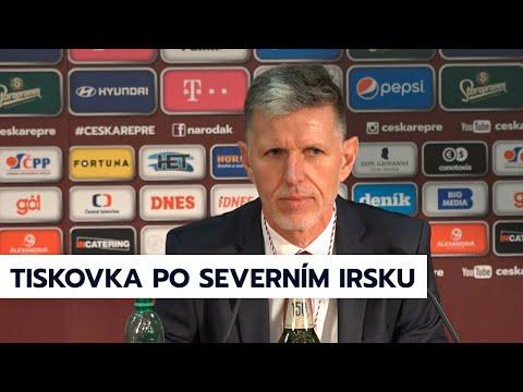 Tisková konference po zápase Česko - Severní Irsko