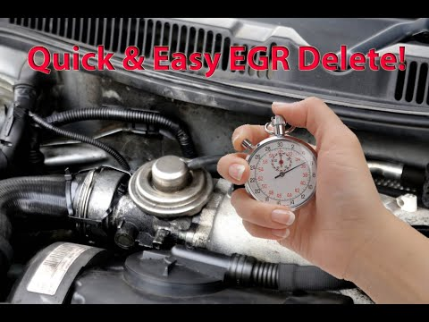 Easy EGR Delete In 1 Minute! VW Golf TDI MK4 EGR Valve-Vacuum Hose Pipe Blocked Off With Bolt/Screw