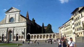 Walking through Florence with the Dunlaps