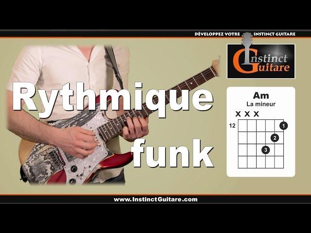 Rythmique funk à la guitare avec triades majeures et mineures