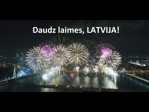 """Daudz laimes, Latvija! """"99"""" 18.novembris 2017.gads, Salūts - uguņošana"""