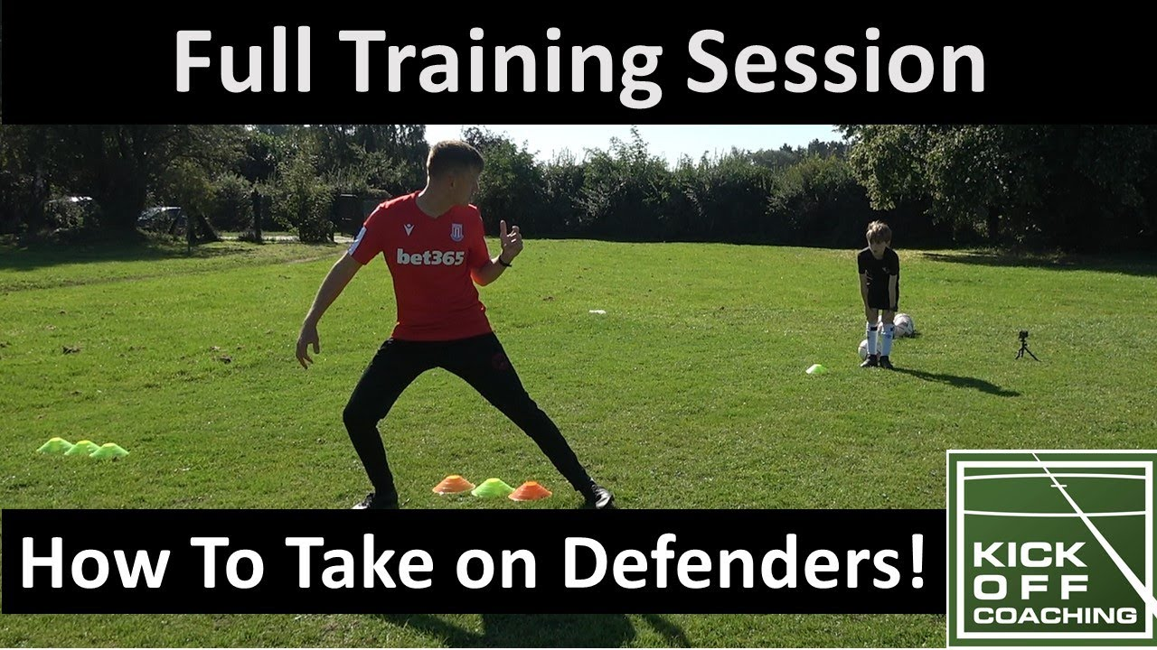 1 on 1 Training. How to Take on Defenders and Score Video. Full coaching Session