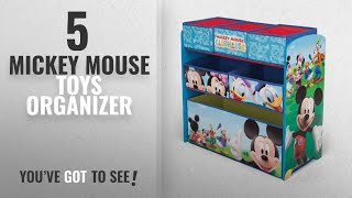 Top 10 Mickey Mouse Toys Organizer [2018]: Delta Children Mickey Mouse Clubhouse Multi Bin