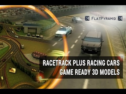 Racetrack Plus Racing Cars Game Ready 3D Models Review