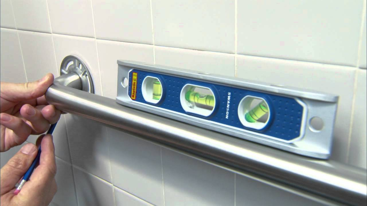 Bathroom Grab Bar Installation Height grab bar installation for an accessible bathroom - youtube