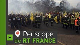 Policiers, pompiers, infirmiers rassemblés à Paris pour dénoncer leurs conditions (Direct du 24.11)