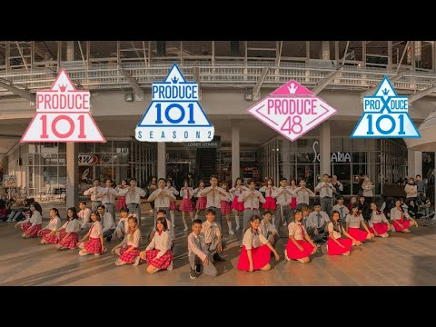 "[[KPOP IN PUBLIC CHALLENGE]] "" PRODUCE ALL SEASON "" - ALL THEME SONGS DANCE COVER 