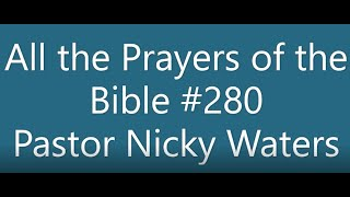 Wednesday Night 7 29 2020 with Pastor Nicky Waters