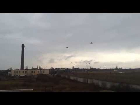 Russian Helicopters crossing into Ukraine