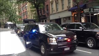 NYPD & United States Secret Service Escorting A Motorcade During The United Nations General Assembly