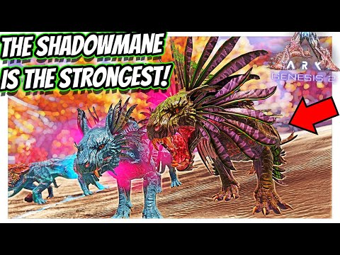 ARK GENESIS 2 THE SHADOWMANE HOW TO TAME AND EVERYTHING YOU NEED TO KNOW!!    Ark Survival evolved!