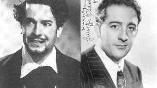 Giuseppe di Stefano & Giuseppe Valdengo - O Mimi tu piu non torni (1951 live)