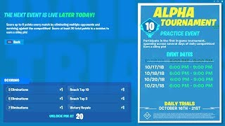 🔴 FORTNITE - ALPHA TOURNAMENT!! - LIVE COUNTDOWN!!