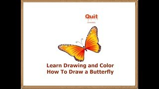 Learn Drawing and Color - How To Draw a Butterfly