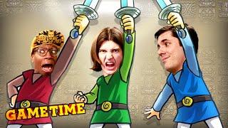 CO-OP CHAOS IN ZELDA TRI FORCE HEROES!! (Gametime w/ Smosh Games)