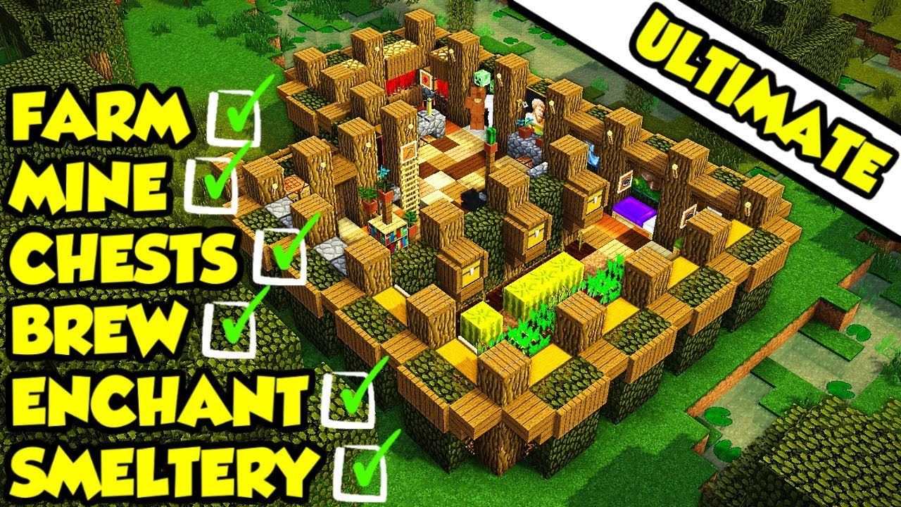 Minecraft Ultimate Survival House Base Tutorial 2  How To Build