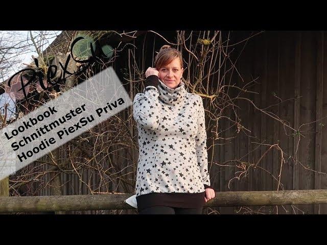 Lookbook Schnittmuster Hoodie PiexSu Priva - YouTube
