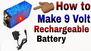 Very Easy, How to make 9 volt Battery, Rechargeable Battery, 🔋🔌Same as 12 Volt, #Battery
