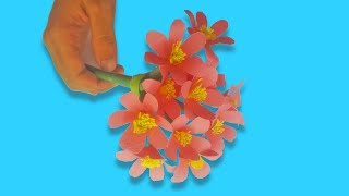 How to make paper flowers - DIY Papers flower Craft Tutorial