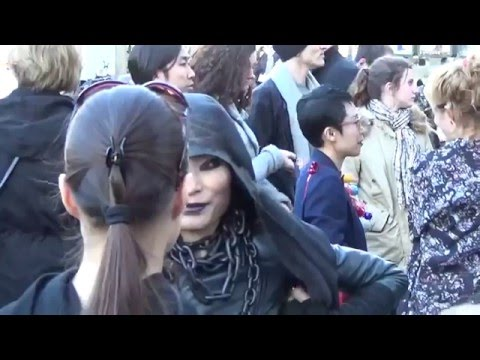 Outside arrivals and Street Style @ show RICK OWENS Paris 3 march 2016 Fashion Week Mars