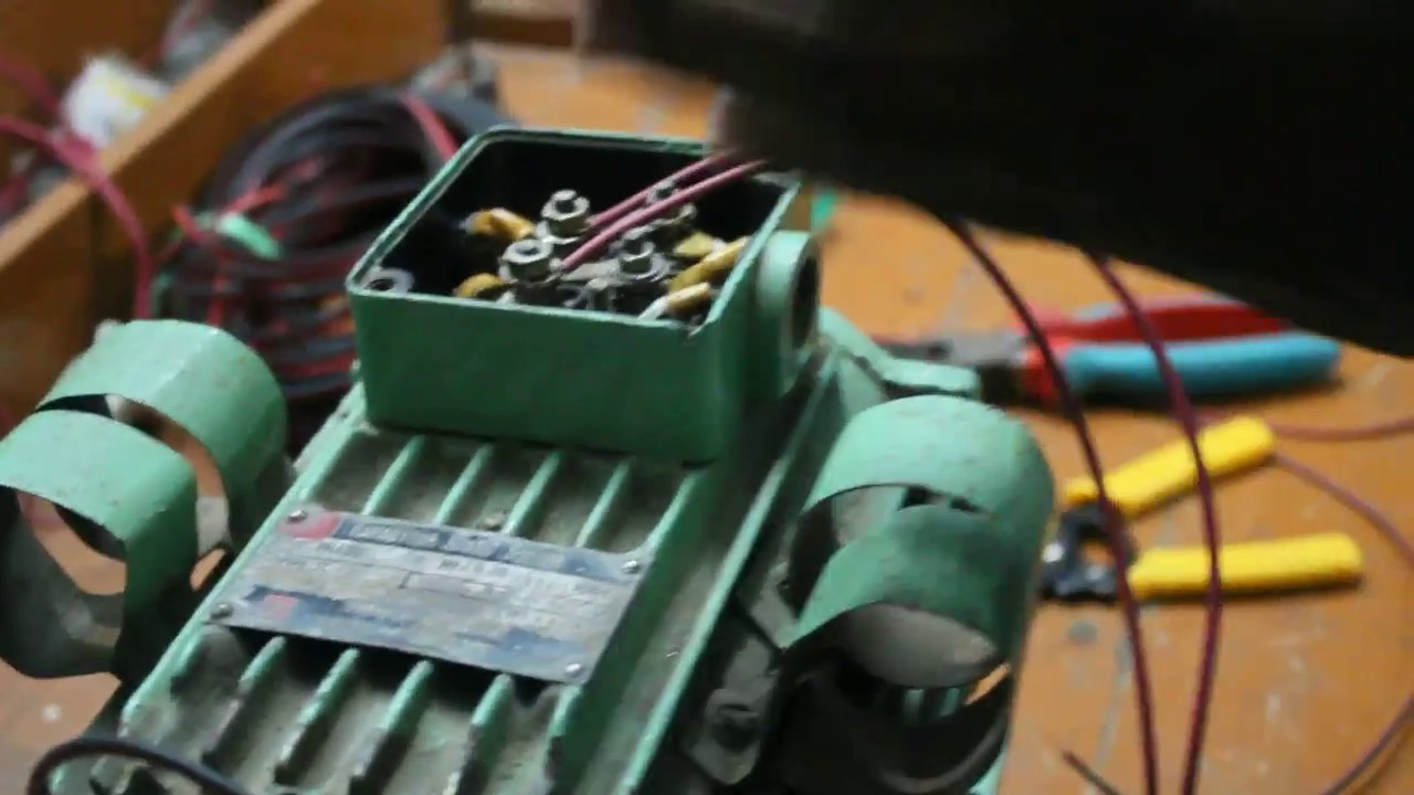 How To Connect Twin Capacitor With A Single Phase Motor Split Ic Starter Wiring Diagram On Champion Air Compressor Connection Youtube