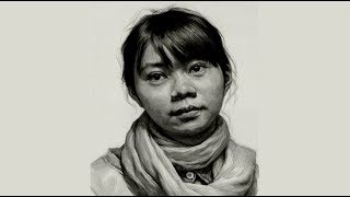 Girl portrait Drawing in Charcoal  Time-Lapse