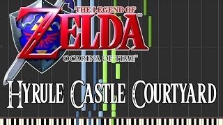 Zelda Ocarina Of Time - Hyrule Castle Courtyard (Synthesia)