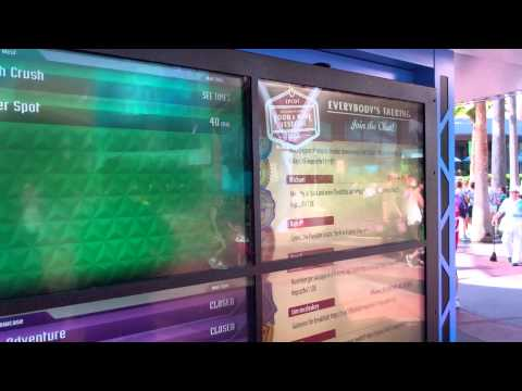 NEW  Wait Times Sign at EPCOT CENTER - WALT DISNEY WORLD