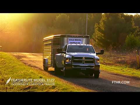 Take a Quick Tour of the New Featherlite Model 8127 Livestock Trailer.
