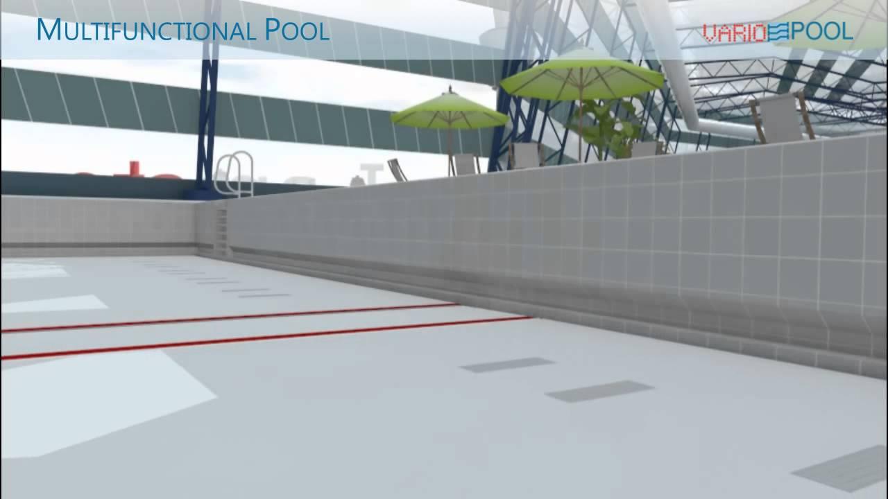 Variopool Multifunctional Movable Swimming Pool Floor Youtube